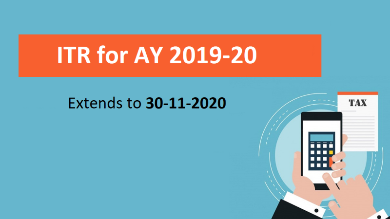 CBDT further extends due date for filing of ITR for AY 2019-20 to 30-11-2020